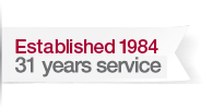 Established in 1984 29 years of service